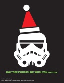 DIY Stormtrooper Christmas T-shirt/Stencil Pattern. This and many other patterns can be downloaded from our blog. /// Note: Patterns are ©, and your work must include © if posted, and can not be sold. See blog for complete ©. #stormtrooper #starwars #tshirt #starwarsparty #maythefourthbewithyou #starwarscostume #pattern #christmas maythefourthbewithyoupartyblog.com