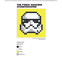 The Force Awakens Stormtrooper Perler Pixel Pattern