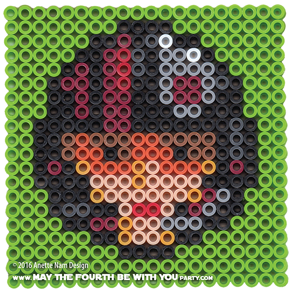 I Hate May The 4th Be With You: Poe Dameron (X-Wing Pilot) Perler Pixel Pattern
