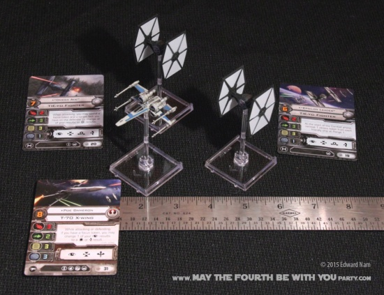 X-Wing,TIE Fighter. Star Wars X-Wing Miniatures Game: The Force Awakens /// We add new Star Wars fun on our blog every week! /// #starwars #theforceawakens #xwingminiaturesgame #boardgames #review #xwing #tiefighter /// maythefourthbewithyoupartyblog.com