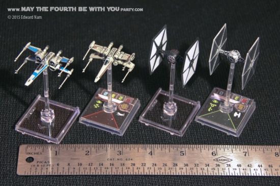 X-Wing TIE Fighter. Micromachines and Star Wars X-Wing Miniatures Game: The Force Awakens /// We add new Star Wars fun on our blog every week! /// #starwars #theforceawakens #xwingminiaturesgame #boardgames #review #xwing #tiefighter #micromachines /// maythefourthbewithyoupartyblog.com