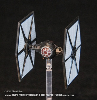 Star Wars X-Wing Miniatures Game: The Force Awakens TIE Fighter /// We add new Star Wars fun on our blog every week! /// #starwars #theforceawakens #xwingminiaturesgame #boardgames #review #tiefighter /// maythefourthbewithyoupartyblog.com