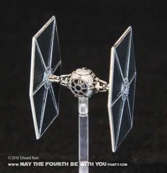 Star Wars X-Wing Miniatures Game: TIE Fighter /// We add new Star Wars fun on our blog every week! /// #starwars #theforceawakens #xwingminiaturesgame #boardgames #review #tiefighter /// maythefourthbewithyoupartyblog.com