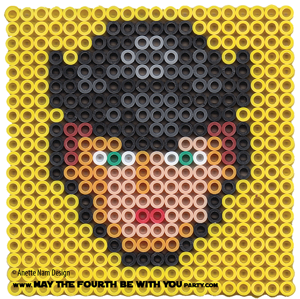 Han Solo May The Fourth Be With You: General Hux Perler Pixel Pattern