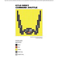 Kylo Ren's Command Shuttle Perler Pixel Pattern