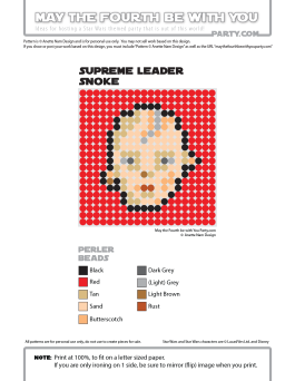 Snoke Perler Pattern. /// We add new patterns to our blog every week! Click the URL and follow us to make sure you don't miss any! /// Star Wars perler, hama bead, cross-stitch, knitting, Lego, pixel pattern /// Note: Patterns are ©, and your work must include © if posted, and can not be sold. See blog for complete ©. #pixel #pixelart #perler #perlerbeads #hama #hamabeads #starwars #crossstitch #lego #knitting #mosaic #diy #snoke #supremeleadersnoke #theforceawakens maythefourthbewithyoupartyblog.com