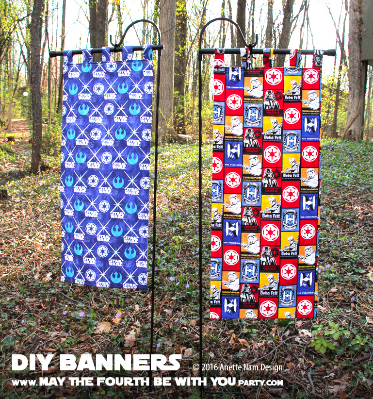 How To Make An Entrance Diy Star Wars Fabric Banners