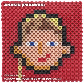 Anakin as Padawan Perler Pattern./ We add new patterns to our blog every week! Click to follow us, to make sure you don't miss any! / Star Wars perler, hama bead, cross-stitch, knitting, Lego, pixel pattern / Note: Patterns are ©, and your work must include © if posted, & can not be sold. See blog for complete ©. #pixel #pixelart #perler #perlerbeads #hama #hamabeads #starwars #crossstitch #lego #knitting #mosaic #diy #anakin #attackoftheclones #padawan maythefourthbewithyoupartyblog.com