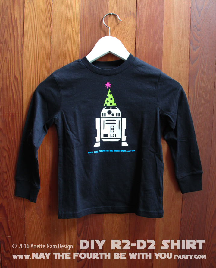 May The 4th Be With You Merchandise: DIY R2-D2 Star Wars Party Shirt