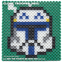 Clone Trooper (Rex) Perler Pixel Pattern
