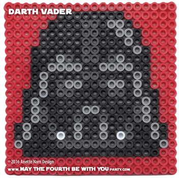 Darth Vader Perler Pattern. / We add new patterns to our blog every week! Click to follow us - make sure you don't miss any! / Star Wars perler, hama bead, cross-stitch, knitting, Lego, pixel pattern / Note: Patterns are ©, and your work must include © if posted, & can not be sold. See blog for complete ©. #pixel #pixelart #perler #perlerbeads #hama #hamabeads #fusebeads #starwars #crossstitch #lego #knitting #mosaic #diy #anakin #darthvader #rougeone maythefourthbewithyoupartyblog.com