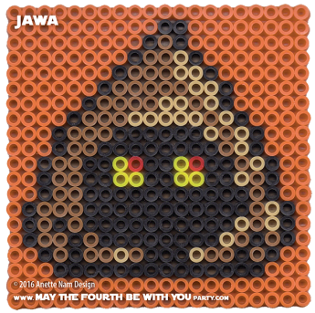 Jawa Perler Pattern./ We add new patterns to our blog every week! Click to follow us, to make sure you don't miss any! / Star Wars perler, hama bead, cross-stitch, knitting, Lego, pixel pattern / Note: Patterns are ©, and your work must include © if posted, & can not be sold. See blog for complete ©. #pixel #pixelart #perler #perlerbeads #hama #hamabeads #starwars #crossstitch #lego #knitting #mosaic #diy #jawa maythefourthbewithyoupartyblog.com