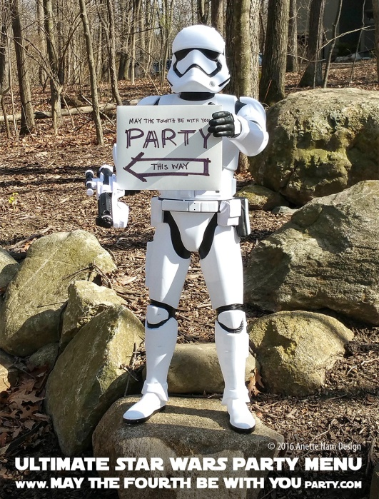 Ultimate Star Wars/May the Fourth Party menu. Stormtrooper / Check out our blog for lots of Star Wars Party food recipes and downloadable labels! Great ideas for a Birthday Party or a May the Fourth be with you Party. / #starwars #starwarsparty #theforceawakens #maythefourthbewithyou #starwarsbirthday #starwarsfood #stormtrooper #waffle #maindish #dessert #beverage #snack #salad #soup #maythefourth #maythe4th #foodart #recipe #sidedishes #breakfast #rogueone/ maythefourthbewithyoupartyblog.com