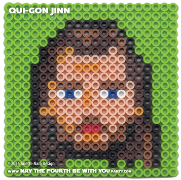Qui-Gon Jinn Perler Pattern / We add new patterns to our blog every week! Follow us to make sure you don't miss any! / Star Wars perler, hama bead, cross-stitch, knitting, Lego, pixel pattern / Patterns are ©, and your work must include © if posted, and can not be sold. See blog for complete © #pixel #pixelart #perler #perlerbeads #hama #hamabeads #starwars #crossstitch #lego #knitting #mosaic #fusebeads #thephantommenance #quigon #quigonjinn #jedi maythefourthbewithyoupartyblog.com