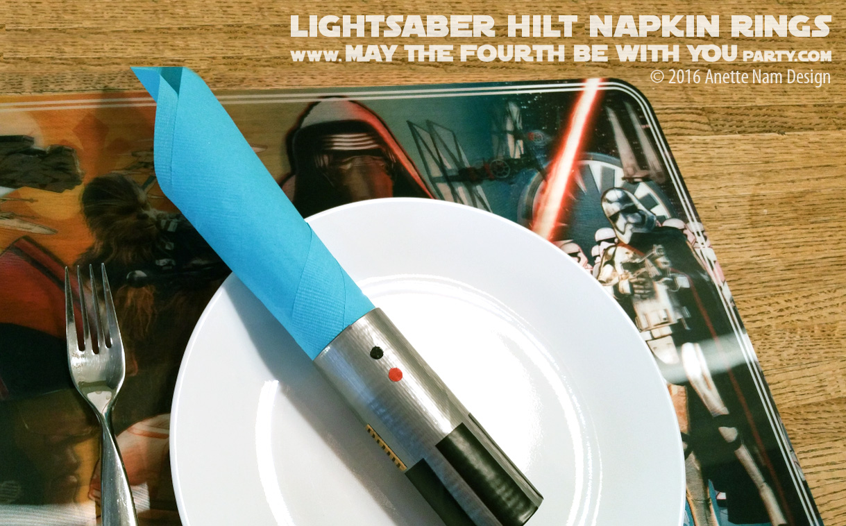 Diy Lightsaber Hilt Napkin Rings Part 2 May The Fourth