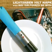 DIY Lightsaber Hilt Napkin Rings (Part 2)