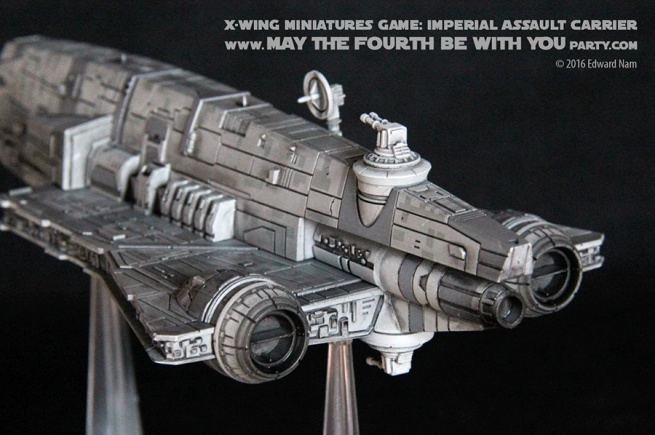 Star Wars X-Wing Miniatures Game: Rebels Imperial Assault Carrier Gozanti Class Cruiser /// We add new Star Wars fun on our blog every week! /// #starwars #theforceawakens #xwingminiaturesgame #boardgames #review #xwing #rebels #starwarsrebels #miniature #imperialassaultcarrier #gozanticlasscruiser /// maythefourthbewithyoupartyblog.com