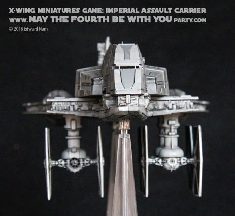 Star Wars X-Wing Miniatures Game: Rebels Imperial Assault Carrier Gozanti Class Cruiser with TIE Fighters/// We add new Star Wars fun on our blog every week! /// #starwars #theforceawakens #xwingminiaturesgame #boardgames #review #xwing #rebels #starwarsrebels #miniature #imperialassaultcarrier #gozanticlasscruiser #tiefighters #tie /// maythefourthbewithyoupartyblog.com