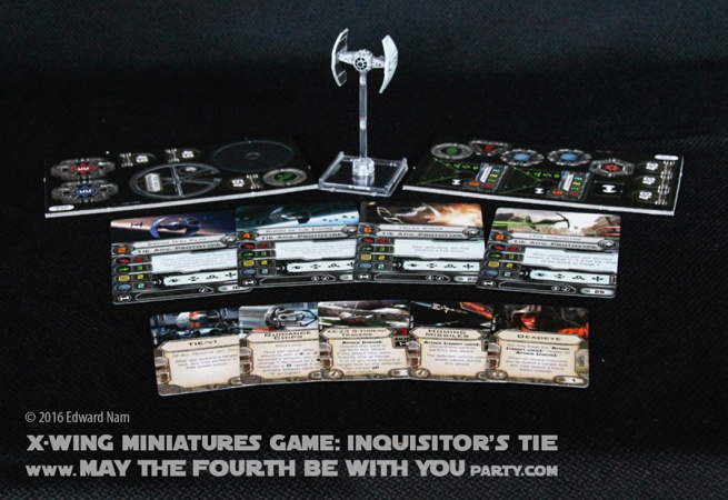 Star Wars X-Wing Miniatures Game: Inquisitors TIE and Darth Vaders TIE Advanced (TIE fighter) /// We add new Star Wars fun on our blog every week! /// #starwars #theforceawakens #xwingminiaturesgame #boardgames #review #xwing #rebels #starwarsrebels #miniature #tie #tieadvanced #inquisitorstie #tiefighter #darthvader #inquisitor /// maythefourthbewithyoupartyblog.com