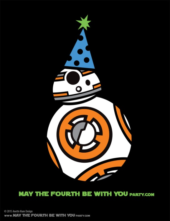 DIY BB-8 May the Fourth be with You Party Star Wars Day T-shirt/Stencil Pattern. This and many other patterns can be downloaded FREE from our blog. / Note: Patterns are ©, and your work must include © if posted, and can not be sold. See blog for complete ©/ #bb8 #starwars #tshirt #starwarsparty #theforceawakens #maythefourthbewithyou #maythe4th #maythefourth #starwarscostume #pattern #maythe4thbewithyou #stencil #silkscreen #silhouettecameo maythefourthbewithyoupartyblog.com