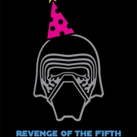 "Revenge of the Fifth! (DIY ""Emo Kylo Ren doesn't Want to Party"" Shirt)"