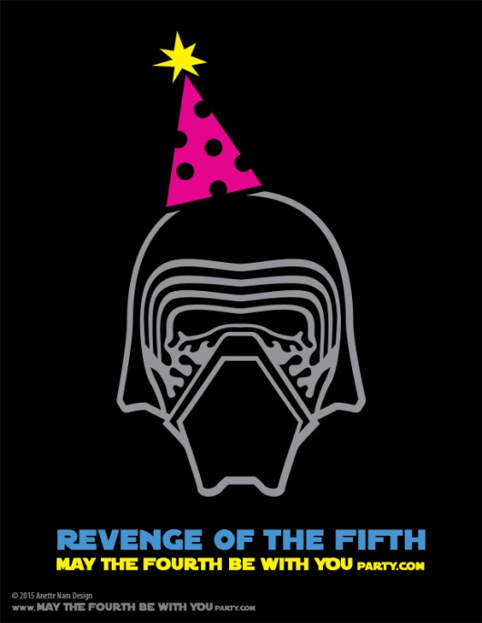 DIY Kylo Ren Star Wars Day Revenge of the Fifth T-shirt/Stencil Pattern. This and many other patterns can be downloaded FREE from our blog. / Note: Patterns are ©, and your work must include © if posted, and can not be sold. See blog for complete ©/ #kyloren #starwars #tshirt #starwarsparty #theforceawakens #maythefourthbewithyou #maythe4th #maythefourth #revengeofthefifth #starwarscostume #pattern #maythe4thbewithyou #stencil #silkscreen #silhouettecameo maythefourthbewithyoupartyblog.com
