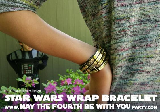 Star Wars Jewelry Crawl wrap Bracelet // We add new Star Wars posts to our blog every week! // #starwars #darthvader #anewhope #review #jewelry #bracelet #gift #loveandmadness /// maythefourthbewithyoupartyblog.com