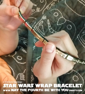 Star Wars Jewelry Crawl wrap Bracelet // We add new Star Wars posts to our blog every week! // #starwars #anewhope #review #jewelry #bracelet #gift #loveandmadness #stormtrooper /// maythefourthbewithyoupartyblog.com