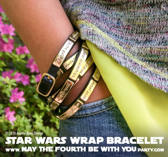 Star Wars Jewelry Crawl wrap Bracelet // We add new Star Wars posts to our blog every week! // #starwars #anewhope #review #jewelry #bracelet #gift #loveandmadness /// maythefourthbewithyoupartyblog.com