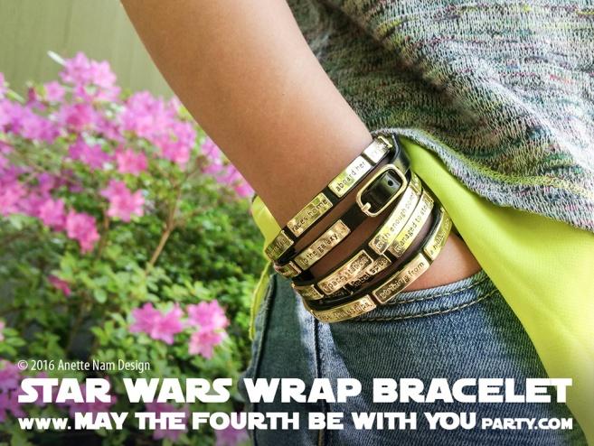 Star Wars Jewelry Crawl wrap Bracelet // We add new Star Wars posts to our blog every week! // #starwars #anewhope #review #jewelry #bracelet #gift #loveandmadness /// maythefourthbewithyoupartyblog.com