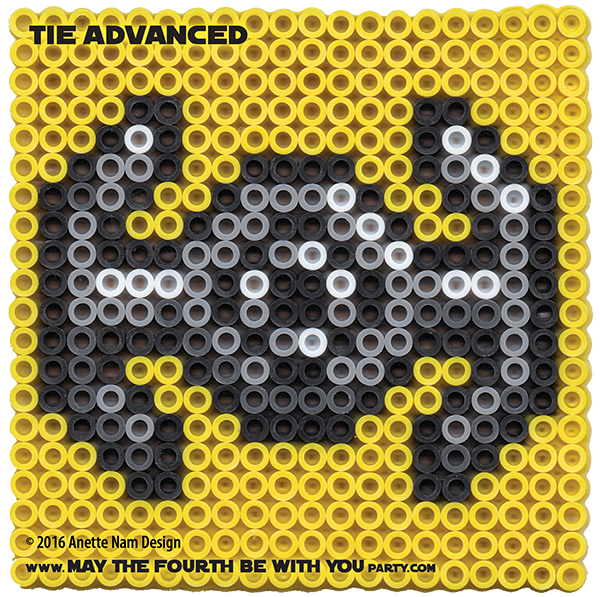 Darth Vader S Tie Advanced Perler Pixel Pattern May The Fourth Be