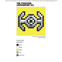 Darth Vader's TIE Advanced Perler Pixel Pattern