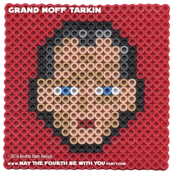 Grand Moff Tarkin Perler Pattern. // We add new patterns to our blog every week! Click URL and follow us to make sure you don't miss any! // Star Wars perler, hama bead, cross-stitch, knitting, Lego, pixel pattern // Note: Patterns are ©, and your work must include © if posted, and can not be sold. See blog for complete ©. #pixel #pixelart #perler #perlerbeads #hama #hamabeads #starwars #crossstitch #lego #knitting #mosaic #grandmofftarkin #anewhope #tarkin maythefourthbewithyoupartyblog.com