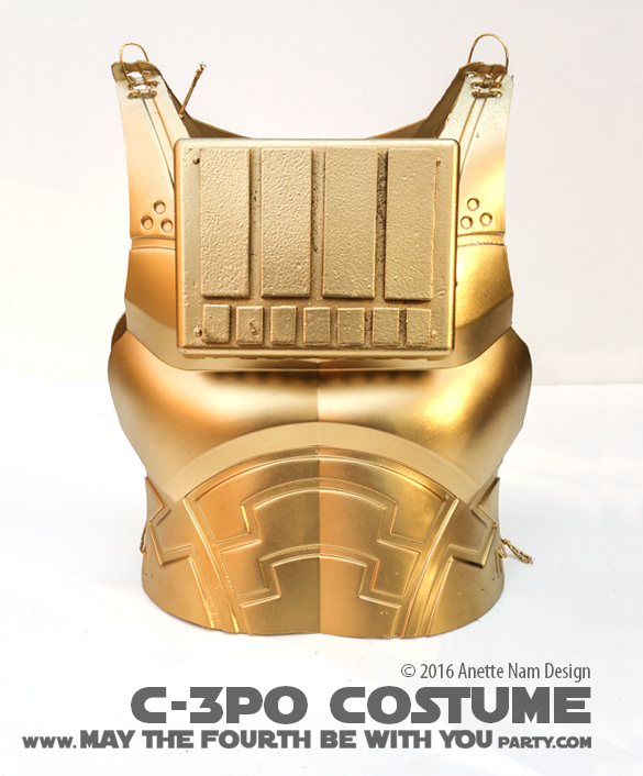 May The Fourth Be With You Party Ideas: Gold Winner! (DIY C-3PO Costume)