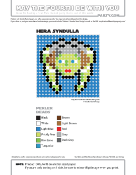 Hera Syndulla Perler Pattern / We add new patterns to our blog every week! Follow us to make sure you don't miss any! / Star Wars perler, hama bead, cross-stitch, knitting, Lego, pixel pattern / Patterns are ©. Your work must include © if posted, and can not be sold. See blog for complete ©. #pixel #pixelart #perler #perlerbeads #hama #hamabeads #artkal #fusebeads #starwars #crossstitch #lego #knitting #mosaic #herasyndulla #rebels #starwarsrebels maythefourthbewithyoupartyblog.com