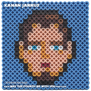 Kanan Jarrus Perler Pattern / We add new patterns to our blog every week! Click URL to follow us to make sure you don't miss any! / Star Wars perler, hama bead, cross-stitch, knitting, Lego, pixel pattern / Patterns are ©. Your work must include © if posted, and can not be sold. See blog for complete ©. #pixel #pixelart #perler #perlerbeads #hama #hamabeads #artkal #fusebeads #starwars #crossstitch #lego #knitting #mosaic #kananjarrus #kanan #rebels #starwarsrebels maythefourthbewithyoupartyblog.com