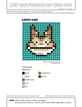 Loth Cat Perler Pattern / We add new patterns to our blog every week! Click URL and follow us to make sure you don't miss any! / Star Wars perler, hama bead, cross-stitch, knitting, Lego, pixel pattern / Note: Patterns are ©, and your work must include © if posted, and can not be sold. See blog for complete ©. #pixel #pixelart #perler #perlerbeads #hama #hamabeads #artkal #fusebeads #starwars #crossstitch #lego #knitting #mosaic #lothcat #rebels maythefourthbewithyoupartyblog.com