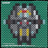 Ghost Perler Pixel Pattern