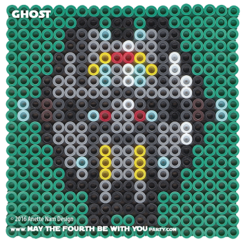 Ghost Perler Pattern / We add new patterns to our blog every week! Follow us to make sure you don't miss any! / Star Wars perler, hama bead, cross-stitch, knitting, Lego, pixel pattern / Patterns are ©. Your work must include © if posted, and can not be sold. See blog for complete ©. #pixel #pixelart #perler #perlerbeads #hama #hamabeads #artkal #fusebeads #starwars #crossstitch #lego #knitting #mosaic #ghost #rebels #starwarsrebels maythefourthbewithyoupartyblog.com