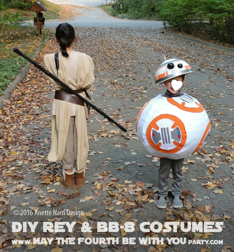 The Fun Awakens (DIY Rey and BB-8 Costumes) | May the ...
