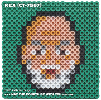 Rex CT-7567 Clonetrooper Perler Pattern / We add new patterns every week! Follow us to make sure you don't miss any! / Star Wars perler, hama bead, cross-stitch, knitting, Lego, pixel pattern / Patterns are © Your work must include © if posted, and can not be sold. See blog for complete ©. #pixel #pixelart #perler #perlerbeads #hama #hamabeads #artkal #fusebeads #starwars #crossstitch #lego #knitting #mosaic #rex #ct-7567 #clonetrooper #rebels #starwarsrebels maythefourthbewithyoupartyblog.com