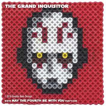 The Grand Inquisitor Perler Pattern / We add new patterns to our blog every week! Follow us to make sure you don't miss any! / Star Wars perler, hama bead, cross-stitch, knitting, Lego, pixel pattern / Patterns are ©. Your work must include © if posted, and can not be sold. See blog for complete ©. #pixel #pixelart #perler #perlerbeads #hama #hamabeads #artkal #fusebeads #starwars #crossstitch #lego #knitting #mosaic #grandinquisitor #rebels #starwarsrebels maythefourthbewithyoupartyblog.com