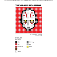 The Grand Inquisitor Perler Pixel Pattern