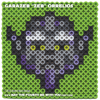 Garazeb Zeb Orrelios Perler Pattern / We add new patterns to our blog every week! Follow us to make sure you don't miss any! / Star Wars perler, hama bead, cross-stitch, knitting, Lego, pixel pattern / Patterns are ©. Your work must include © if posted, and can not be sold. See blog for complete ©. #pixel #pixelart #perler #perlerbeads #hama #hamabeads #artkal #fusebeads #starwars #crossstitch #lego #knitting #mosaic #zeb #rebels #starwarsrebels maythefourthbewithyoupartyblog.com