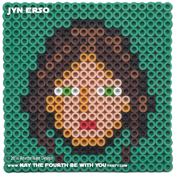 Jyn Erso Perler Pattern / We add new patterns every week! Follow us to make sure you don't miss any! / Star Wars perler, hama bead, cross-stitch, knitting, Lego, pixel pattern / Patterns are © Your work must include © if posted, and can not be sold. See blog for complete ©. #pixel #pixelart #perler #perlerbeads #hama #hamabeads #artkal #fusebeads #starwars #crossstitch #lego #knitting #mosaic #jyn #jynerso #rogueone #pattern maythefourthbewithyoupartyblog.com