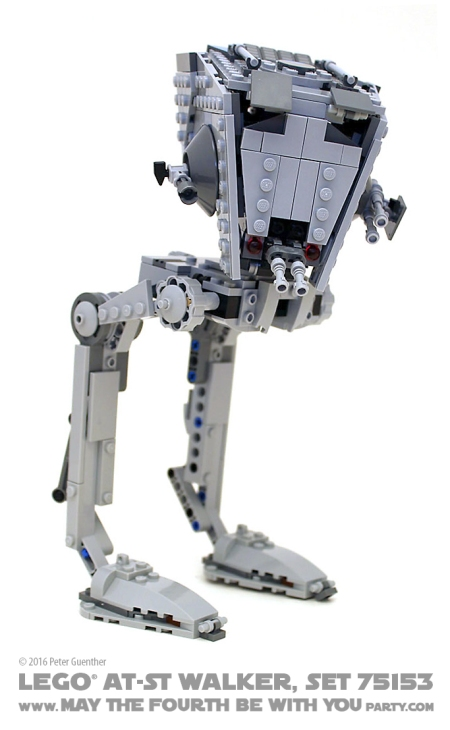 Star Wars Rogue One LEGO AT-ST Walker, Set 75153 /// We add new Star Wars fun on our blog every week! /// #starwars #rogueone #lego #minifig #atst #atstwalker #review #starwarslego /// maythefourthbewithyoupartyblog.com
