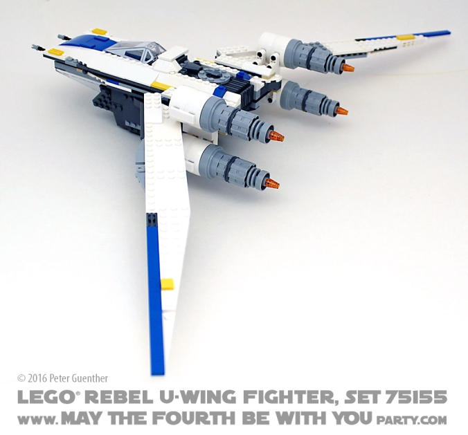 Star Wars Rogue One LEGO Rebel U-Wing Fighter, Set 75155 /// We add new Star Wars fun on our blog every week! /// #starwars #rogueone #lego #minifig #uwing #review #starwarslego /// maythefourthbewithyoupartyblog.com
