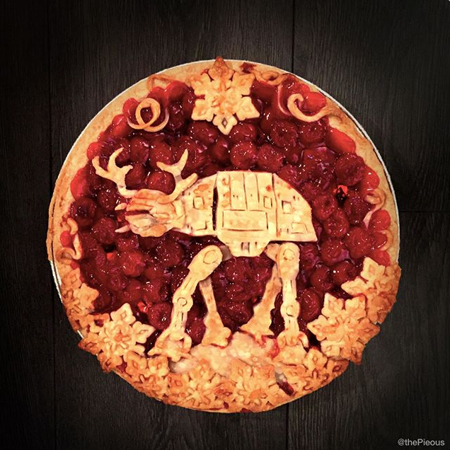 Star Wars Food: AT-AT Pie // Check out our blog for lots of Star Wars Party food recipes and downloadable labels! Great for a Birthday Party or a May the Fourth be with you Party. // #christmas #starwars #star #wars #starwarsparty #theforceawakens #maythefourthbewithyou #starwarsbirthday #starwarsfood #recipe #pie #atat // maythefourthbewithyoupartyblog.com