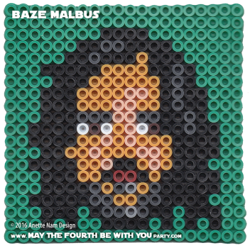 Baze Malbus Perler Pattern / We add new patterns every week! Follow us to make sure you don't miss any! / Star Wars perler, hama bead, cross-stitch, knitting, Lego, pixel pattern / Patterns are © Your work must include © if posted, and can not be sold. See blog for complete ©. #pixel #pixelart #perler #perlerbeads #hama #hamabeads #artkal #fusebeads #starwars #crossstitch #lego #knitting #mosaic #baze #bazemalbus #rogueone #pattern maythefourthbewithyoupartyblog.com