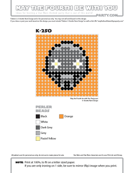 K-2SO Perler Pattern / We add new patterns every week! Follow us to make sure you don't miss any! / Star Wars perler, hama bead, cross-stitch, knitting, Lego, pixel pattern / Patterns are © Your work must include © if posted, and can not be sold. See blog for complete ©. #pixel #pixelart #perler #perlerbeads #hama #hamabeads #artkal #fusebeads #starwars #crossstitch #lego #knitting #mosaic #K-2SO #k2so#rogueone #pattern maythefourthbewithyoupartyblog.com